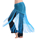 BellyLady Belly Dance Gypsy Tribal Belt with Fringe, Belly Dance Hip Scarf