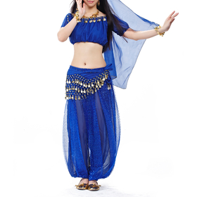 BellyLady Belly Dance Sparkling Tribal Harem Pants, Halloween Costume