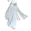 BellyLady Belly Dance Hip scarf, Sequined Fringe Skirt Wrap, Halloween Idea