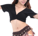 BellyLady Belly Dance Short Sleeved Wrap Top, Top For Christmas