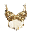 BellyLady Belly Dance Tribal Fringe Sequin Beaded Bra Top 34B/32C, Gift Idea