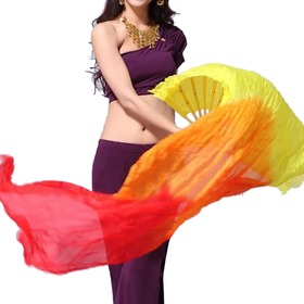 (Price / pair) BellyLady Belly Dance 6 Feet Three-Color Chinese Dance Fan