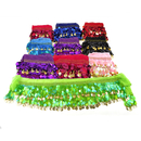 BellyLady Wholesale Lots Of 10 Belly Dance Hip Scarves, Gold Coins Lively Style