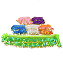 BellyLady Wholesale Lots Of 6 Belly Dance Hip Scarves, Gold Coins Lively Style