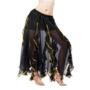 BellyLady Belly Dance Chiffon Lotus Leaf Skirt, Bollywood Arabic Dance Costume