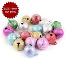 Aspire Multi-color Frosted Small Rounded Bells, Party Accessories, 14mm, 100pcs