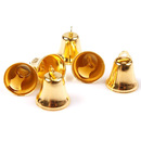Aspire Brassy Wedding Decorative Bells with Clapper, 38mm, 20pcs