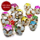 Aspire Multi-style Hollow Floral Crafted Bells, 18mm, 100pcs