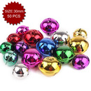 Aspire Multi-color Snowflake Bells with Stars Cutout, 30mm, 50pcs