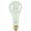 Bulbrite 200A/CL/HL 200-Watt High Lumen Incandescent A23, Medium Base, Clear