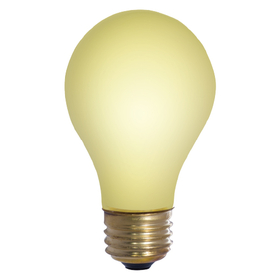 Bulbrite 60A/YB 60-Watt Incandescent Standard A19 Bug Light, Medium Base, Yellow