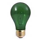 Bulbrite 25A/TG 25-Watt Incandescent Standard A19, Medium Base, Transparent Green