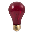 Bulbrite 25A/TR 25-Watt Incandescent Standard A19, Medium Base, Transparent Red