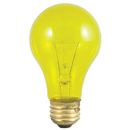 Bulbrite 25A/TY 25-Watt Incandescent Standard A19, Medium Base, Transparent Yellow