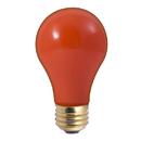 Bulbrite 60A/CO 60-Watt Incandescent Standard A19, Medium Base, Ceramic Orange