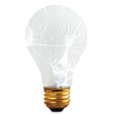 Bulbrite 60A/RS/TF 60-Watt Incandescent Standard A19 Rough Service and Shatter Resistant, Medium Base, Frost