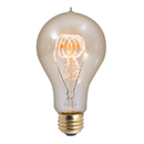 Bulbrite NOS25-VICTOR/A23 25-Watt Nostalgic Incandescent Edison A23, Victorian Loop Filament, Medium Base, Antique