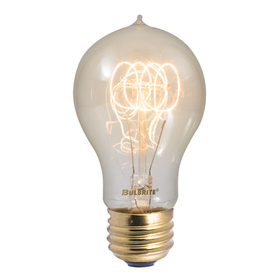 Bulbrite NOS40-VICTOR 40-Watt Nostalgic Incandescent Edison Quad Loop A19, Medium Base, Antique