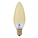 Bulbrite 25B10/ICE Crystal Collection 25-Watt Incandescent B10 Chandelier Bulb, Ice Finish, Candelabra Base, Amber