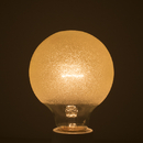 Bulbrite 40G25/ICE Crystal Collection 40-Watt Incandescent G25 Globe, Ice Finish, Medium Base, Amber