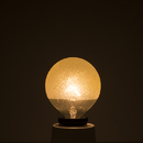 Bulbrite 40G16/ICE/E12 40-Watt Incandescent Crystal Collection G16 Globe, Candelabra Base, Amber Ice