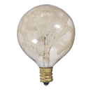 Bulbrite 25G16/MAR/E12 Crystal Collection 25 Watt Incandescent G16 Globe, Marble Finish, Candelabra Base, Amber