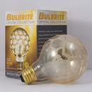 Bulbrite 40G25/MAR Crystal Collection 40-Watt Incandescent G25 Globe, Marble Finish, Medium Base, Amber
