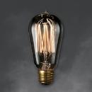 Bulbrite NOS60-1910/SMK 60-Watt Nostalgic Edison ST18 Bulb, Vintage Thread Filament, Medium Base, Smoke