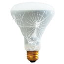 Bulbrite 65BR30/TF 65-Watt Incandescent R20 Shatter Resistant Reflector, Medium Base, Frost