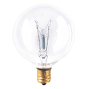 Bulbrite 15G16CL2 15-Watt Incandescent G16.5 Globe, Candelabra Base, Clear