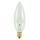 Bulbrite 25CTC/32/2 25-Watt Incandescent Torpedo B10 Chandelier Bulb, Candelabra Base, Clear