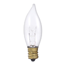 Bulbrite 40CFC/25/2 40-Watt Incandescent Flame Tip CA8 Chandelier Bulb, Candelabra Base, Clear