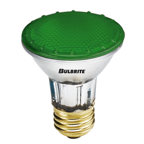 Bulbrite H50PAR20G 50-Watt Dimmable Halogen PAR20, Medium Base, Green