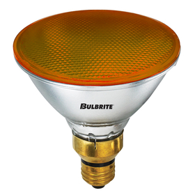 Bulbrite H90PAR38A 90-Watt Dimmable Halogen PAR38, Medium Base, Dark Amber