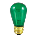 Bulbrite 11S14TG 11W Dimmable S14 String Light Replacement Bulb, Medium Base, Transparent Green