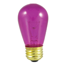 Bulbrite 11S14TF 11W Dimmable S14 String Light Replacement Bulb, Medium Base, Transparent Fuschia