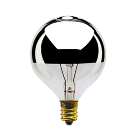 Bulbrite 25G16HM 25-Watt Incandescent Half Chrome G16.5 Globe, Candelabra Base