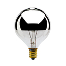 Bulbrite 40G16HM 40-Watt Incandescent Half Chrome G16.5 Globe, Candelabra Base