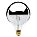 Bulbrite 100G40HM 100-Watt Incandescent Half Chrome G25 Globe, Medium Base