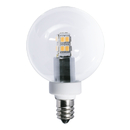 Bulbrite LED/G16/E12 2.5 Watt LED G16 Globe Bulb, 25 Watt Equivalent, Warm White, Candelabra Base