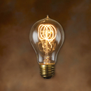 Bulbrite NOS25-VICTOR-6PK 25-Watt Nostalgic Incandescent Edison A19, Quad Loop Filament, Medium Base, Antique, 6-Pack