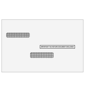 Super Forms 1099 & W-2 Double Window Envelope for Universal Form - Self Seal (1970S)