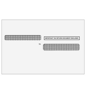 Super Forms W-2 Double Window Envelope 4up Ver. 1 - Self-Seal (4UPDWENVS05)