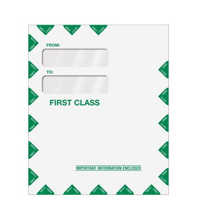 "Super Forms Double Window Tax Organizer Envelope 9-1/2"" x 11-1/2"" - Peel-and-Close (80342PS)"
