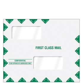 "Super Forms Double Window Tax Return Envelope 11-1/2"" x 9-1/2"" (landscape) - Peel-and-Close (80343PS), Price/50"