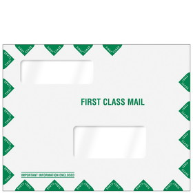 "Super Forms Double Window Tax Organizer Envelope 11-1/2"" x 9"" (landscape) Peel-and-Close (80344PS)"