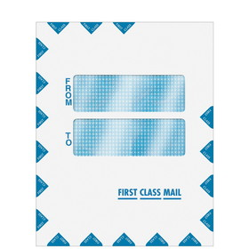 "Super Forms Double Window ""First Class Mail"" Envelope 9-1/2"" x 12"" - Peel & Close (80922)"