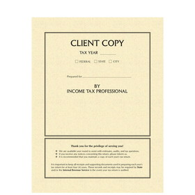 Super Forms Client Copy Tax Return Folder with Pockets (8784)