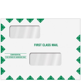 "Super Forms Double Window Tax Return Envelope 10"" x 13"" (landscape) Peel & Close (ENV201PS)"