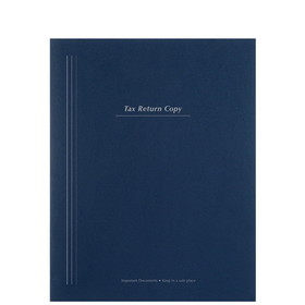 Super Forms Tax Return Folder with Pockets and Vertical Stripe Design - #80 (PT54VXX)